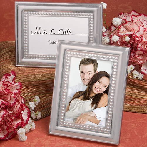 Matte Silver Metal Place Cardphoto Frames Bridal Shower Fc 5706